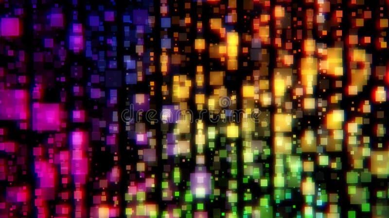 Kleurrijke abstracte achtergrond Kleurrijke vage lichten Kleuren bokeh deeltjes vector illustratie