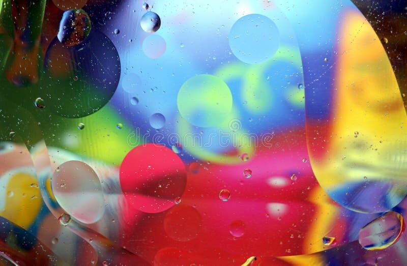 Kleurrijke abstracte achtergrond van vele bellen royalty-vrije stock afbeeldingen