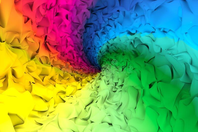 Kleurrijke abstracte achtergrondgeluiden royalty-vrije illustratie