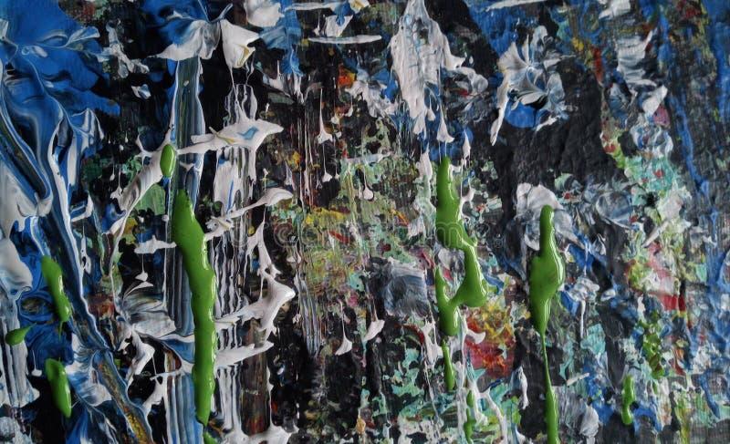 Kleurrijke Abstracte acryl het schilderen textuur royalty-vrije stock afbeeldingen