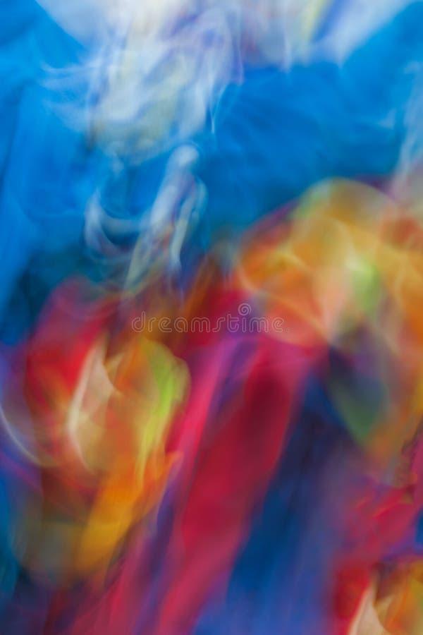 Kleurrijke abstracte bewegings lichte levendige kleur vage achtergrond stock afbeeldingen