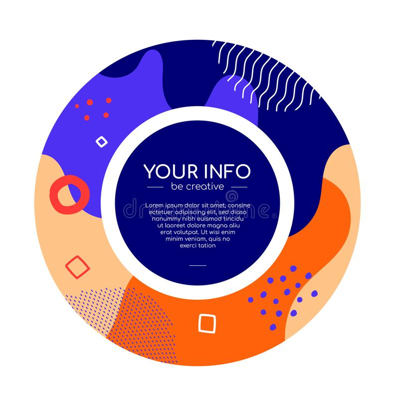 Kleurrijke abstracte brochure - de moderne vlakke banner van de ontwerpstijl stock illustratie