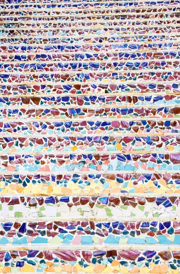 Kleurrijke abstracte de muurachtergrond van de mozaïekkunst stock foto