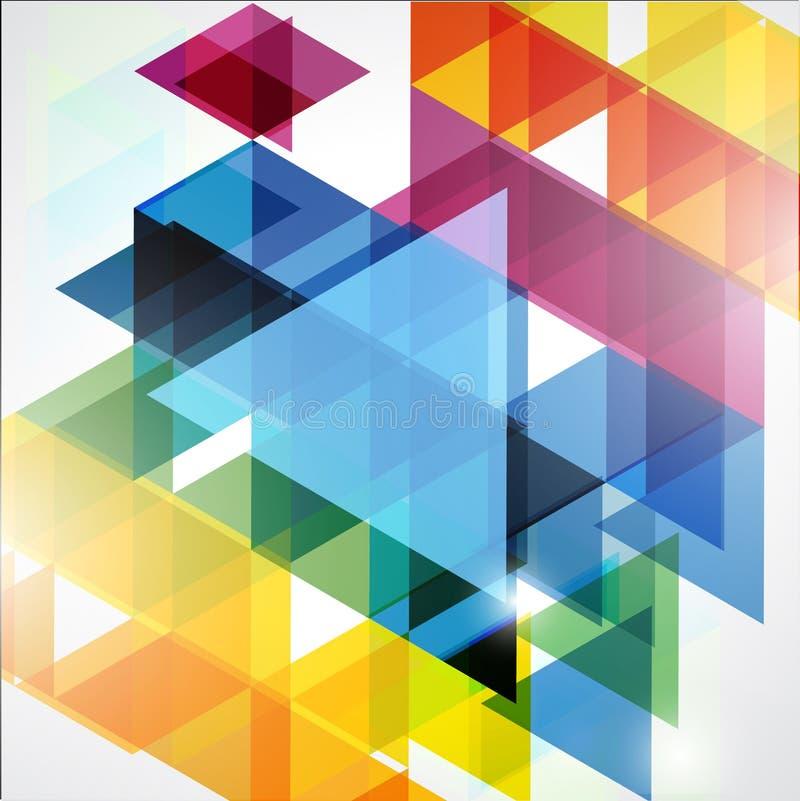 Kleurrijke Abstracte Geometrische Achtergrond stock afbeelding