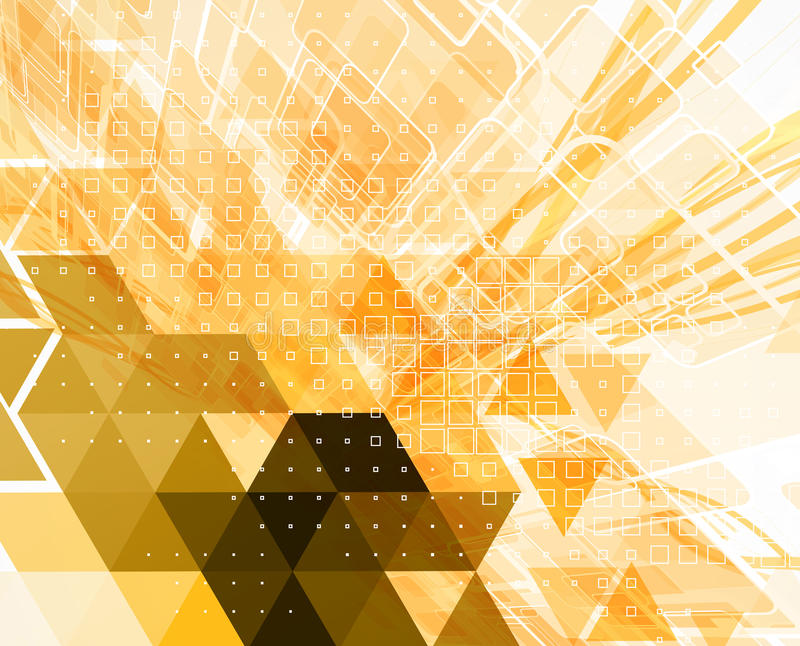 Kleurrijke abstracte geometrische achtergrond voor ontwerp stock illustratie