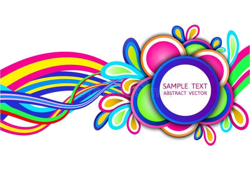 Kleurrijke abstracte golf vectorachtergrond royalty-vrije illustratie