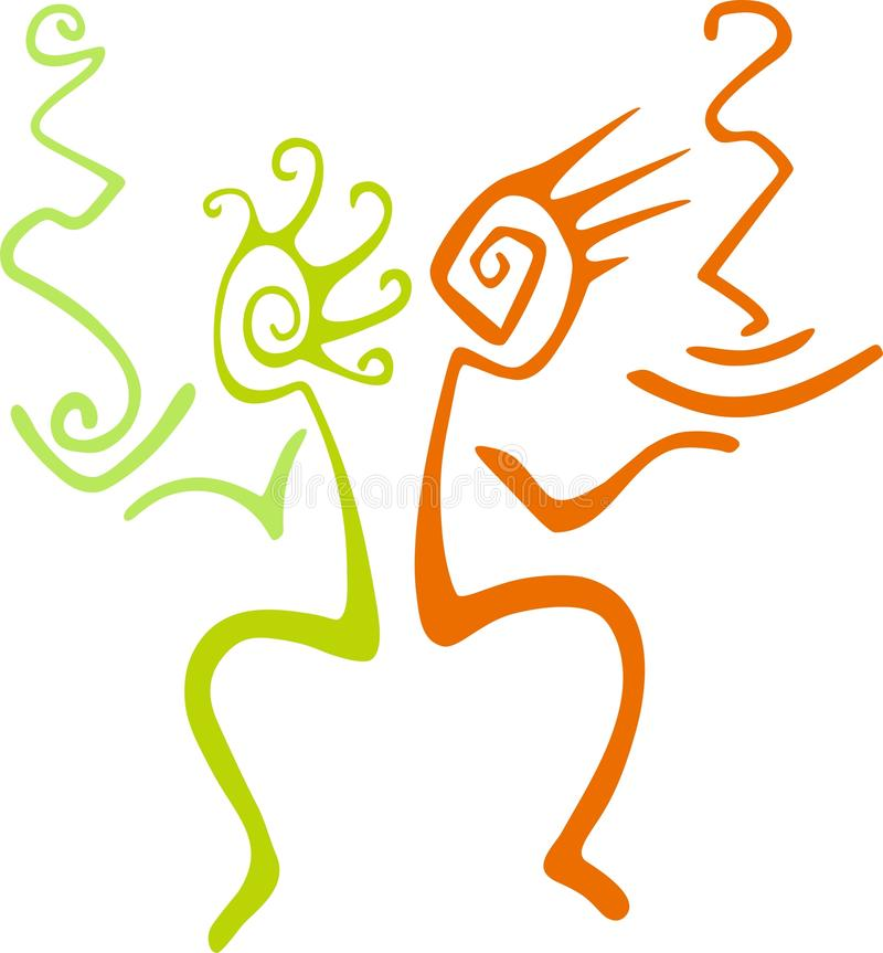 Kleurrijke Abstracte Illustratie vector illustratie