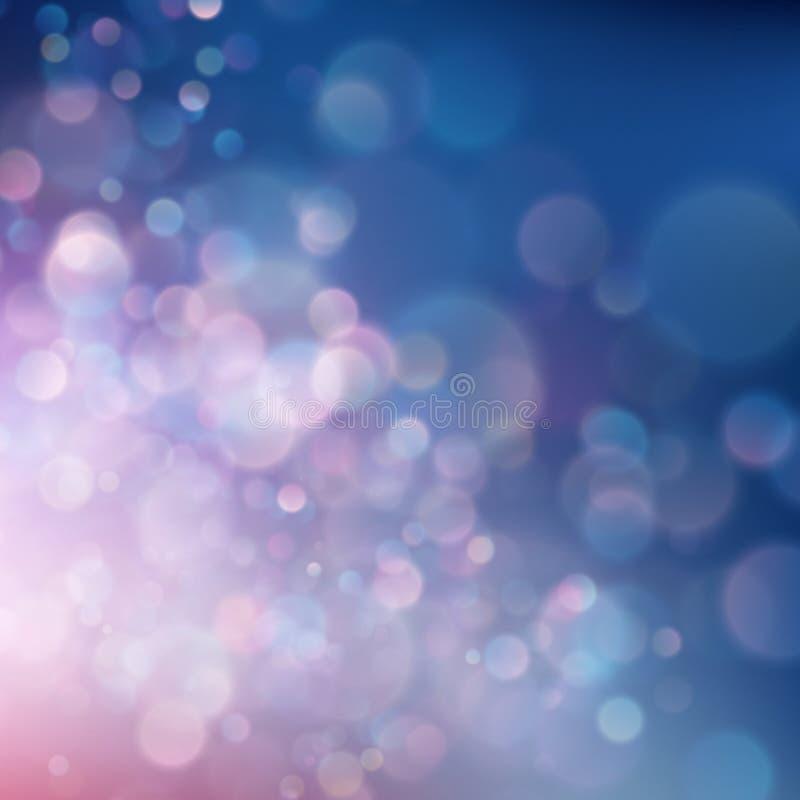 Kleurrijke abstracte levendige onduidelijk beeld bokeh cirkels op de zachte achtergrond van de kleurenstijl Schitter vakantie pur royalty-vrije illustratie