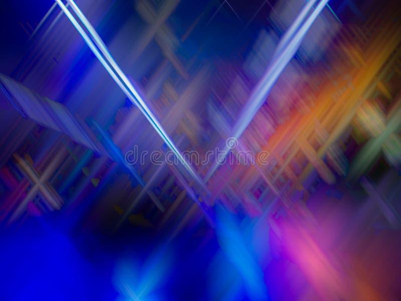 Kleurrijke abstracte lijnenachtergrond Abstracte vlotte lijnen stock foto's