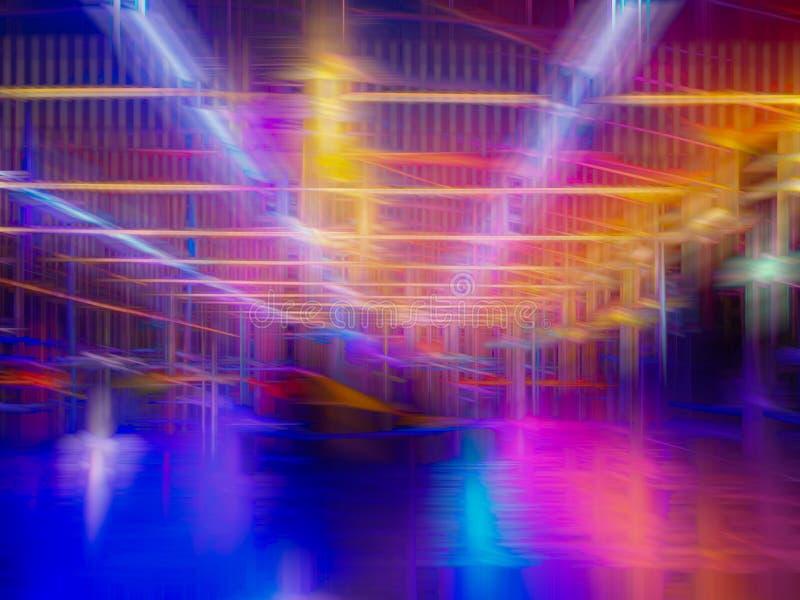 Kleurrijke abstracte lijnenachtergrond Abstracte vlotte lijnen royalty-vrije stock fotografie