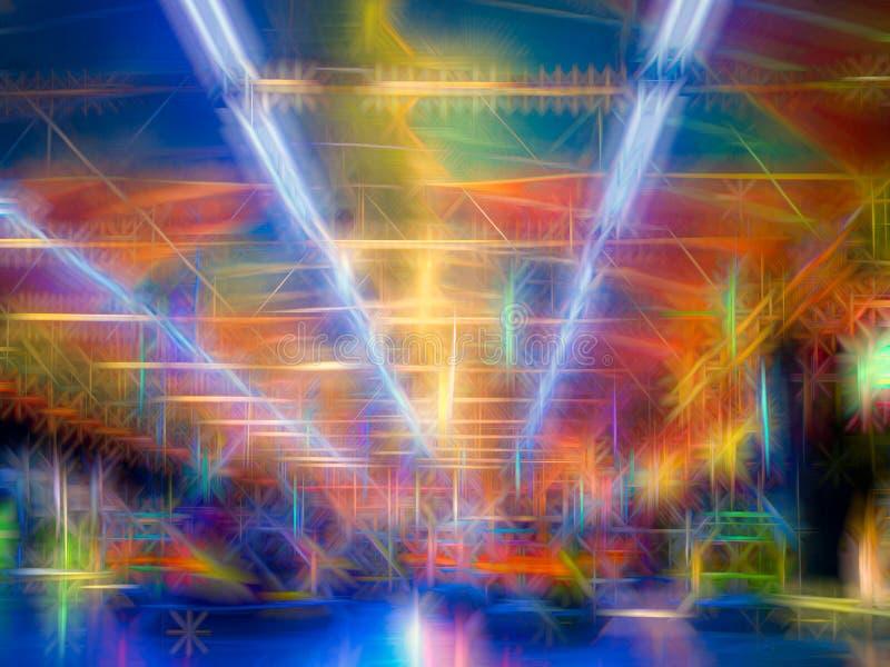 Kleurrijke abstracte lijnenachtergrond Abstracte vlotte lijnen stock afbeelding
