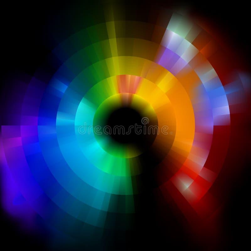 Kleurrijke abstracte mozaïekachtergrond. EPS 8 royalty-vrije illustratie