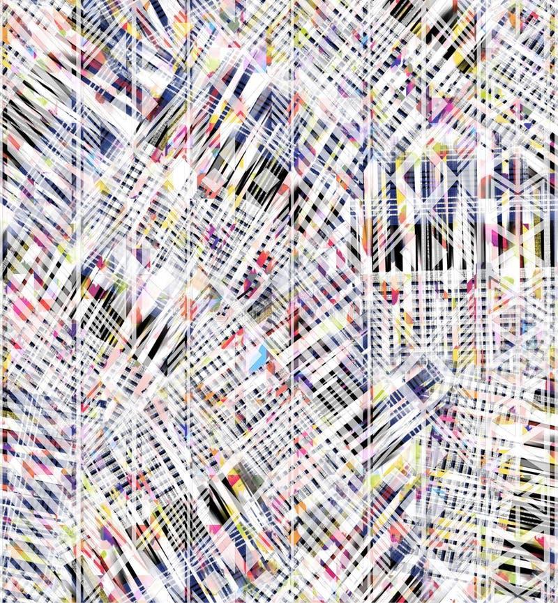 Kleurrijke abstracte naadloze waterverf voor achtergrond stock illustratie