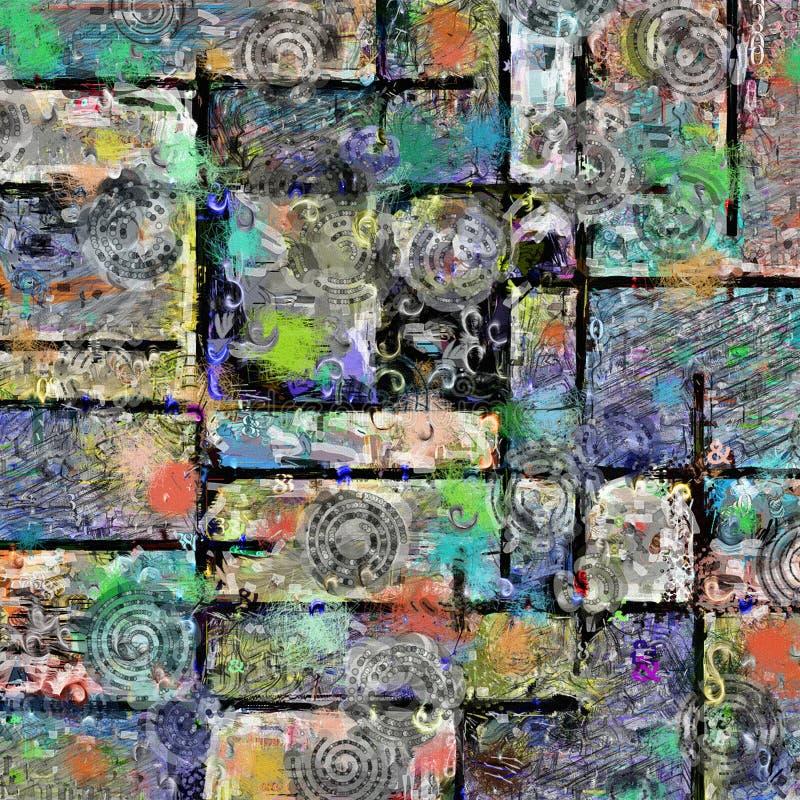 Kleurrijke abstracte samenstelling stock foto