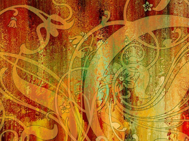 Kleurrijke Abstracte Tekening stock foto's