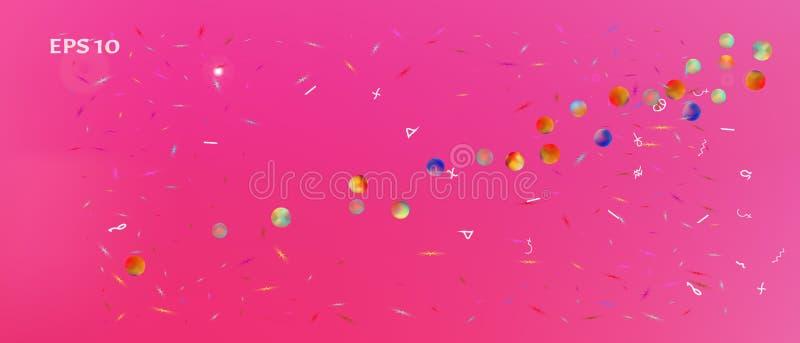 Kleurrijke abstracte ultra brede ruimteachtergrond royalty-vrije illustratie