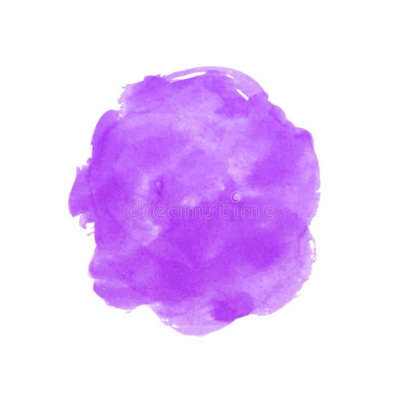 Kleurrijke Abstracte VectorAchtergrond purpere, violette waterverfvlek Het Schilderen van de waterverf stock illustratie