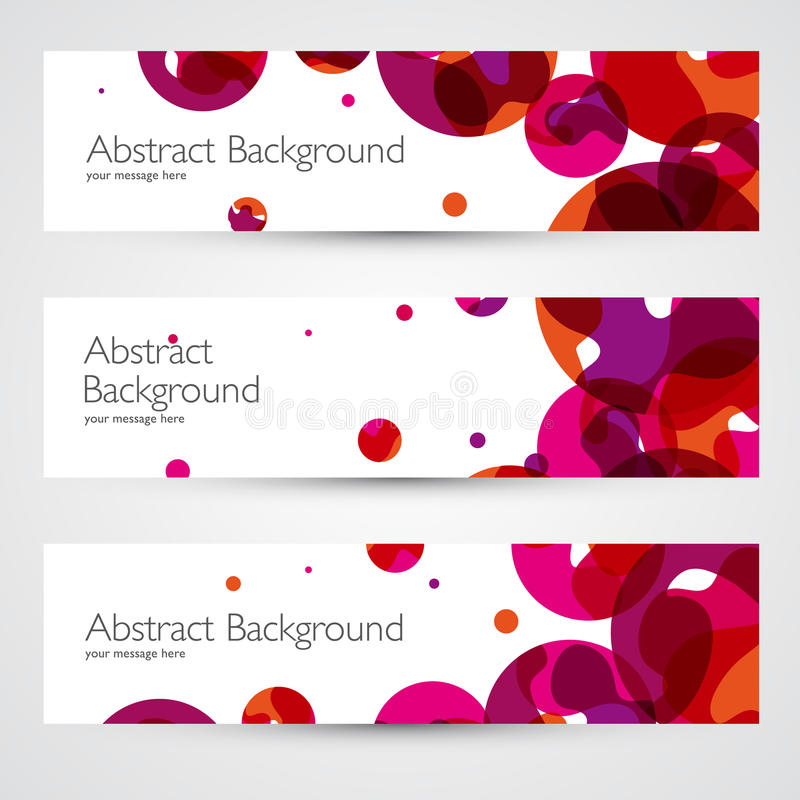 Kleurrijke abstracte vectorbanners royalty-vrije illustratie