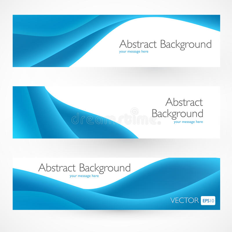 Kleurrijke abstracte vectorbanners stock illustratie