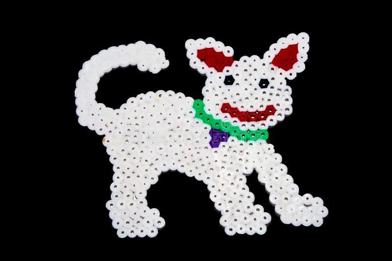 Kleurrijke abstracte vorm van plastic die parels door kind worden samengevoegd stock illustratie