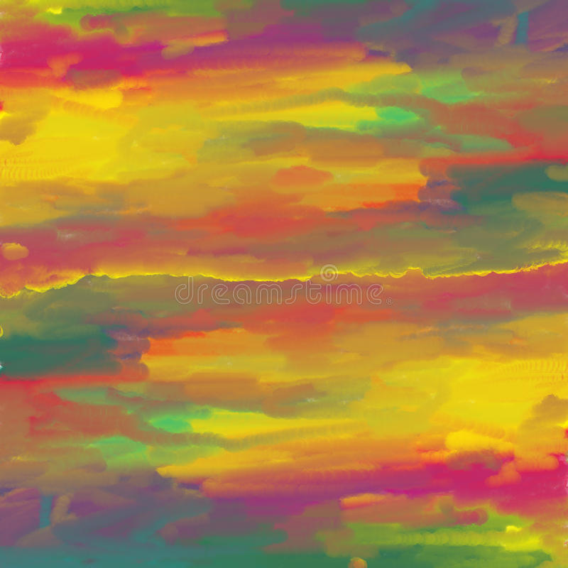 Kleurrijke abstracte waterverf. vector illustratie