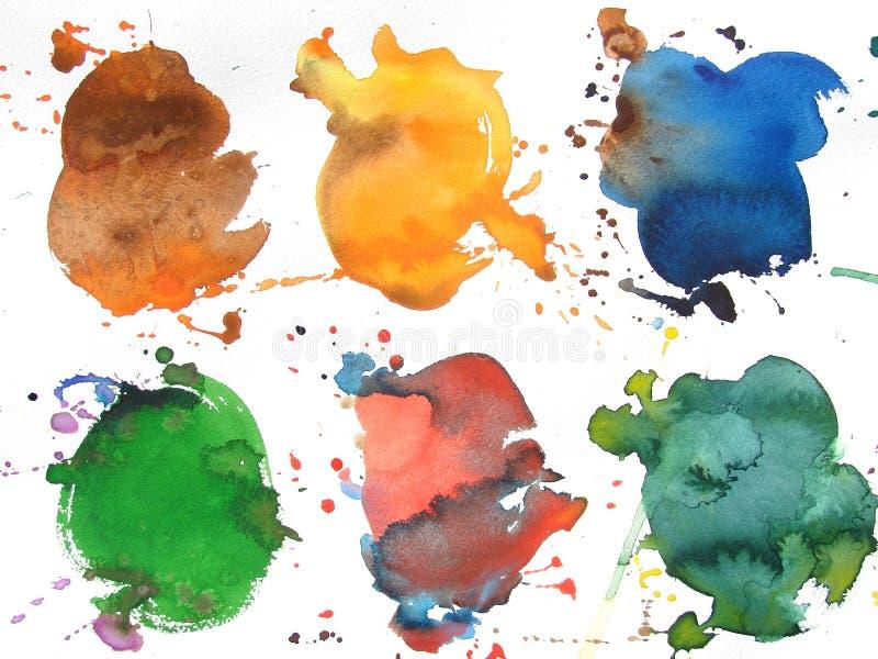 Kleurrijke abstracte waterverfborstel backgroud vector illustratie