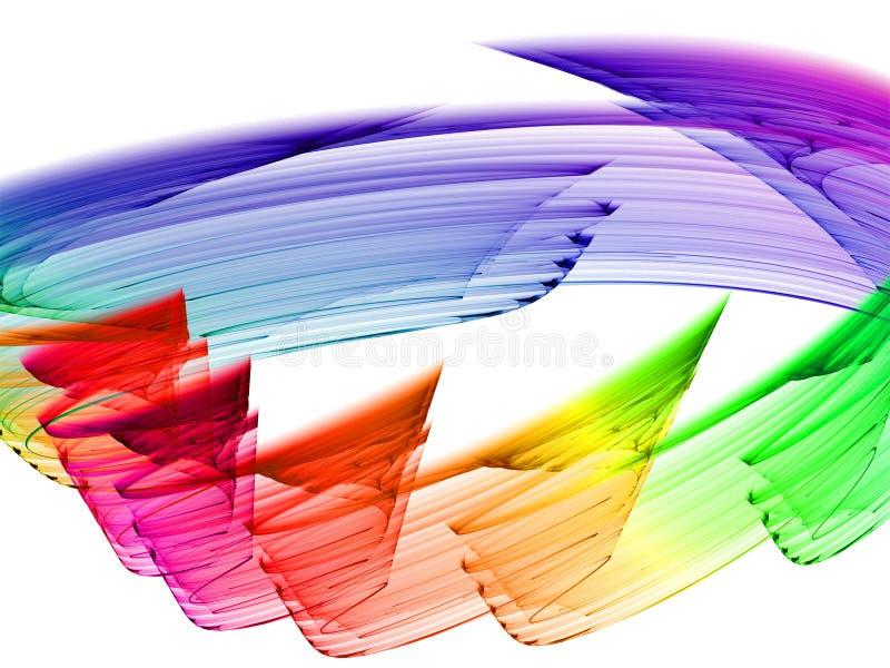 Kleurrijke abstractie royalty-vrije illustratie