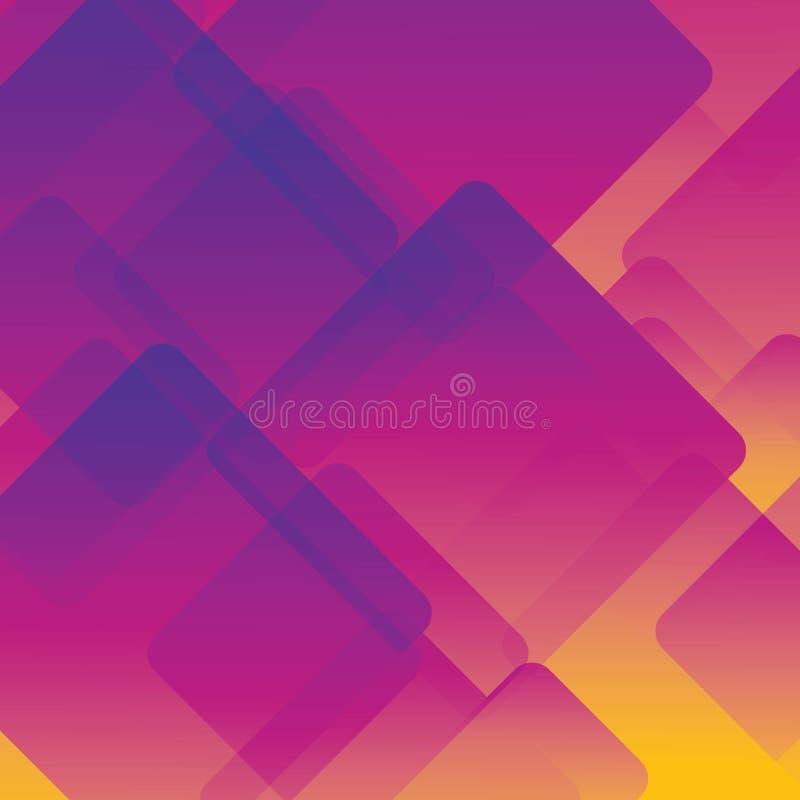 Kleurrijke achtergrond abstracte of diverse ontwerpkunstwerken, adreskaartjes Toekomstig geometrisch malplaatje met overgang royalty-vrije illustratie