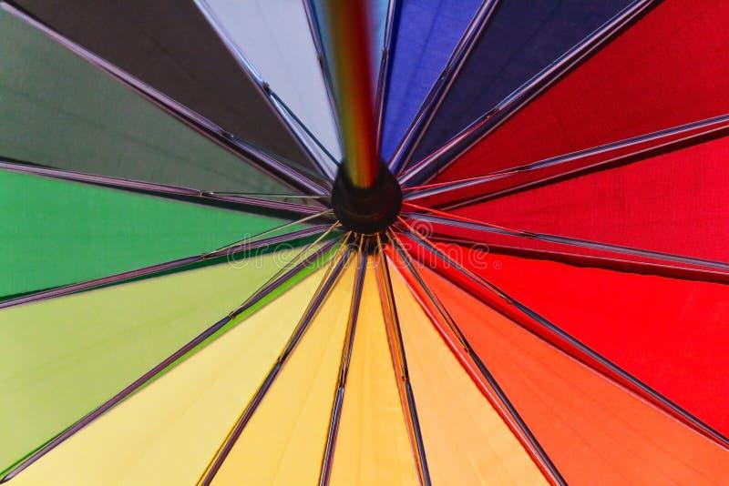 Kleurrijke achtergrond Kleurrijk parapluclose-up royalty-vrije stock foto's