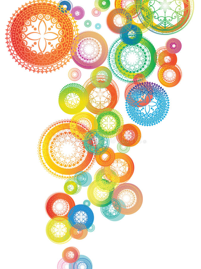 Kleurrijke Achtergrond Mandala royalty-vrije stock foto