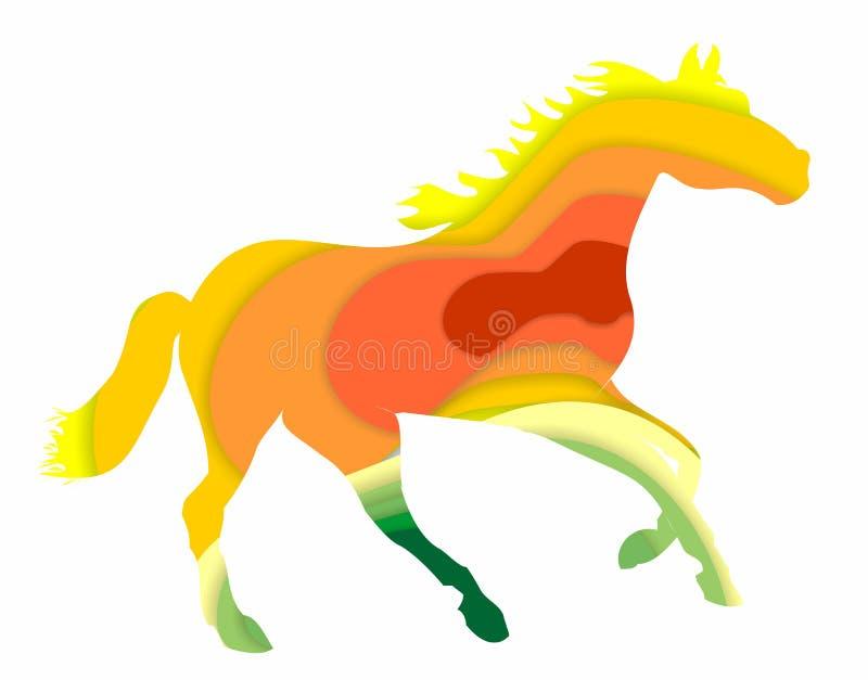 Kleurrijke achtergrond met een paard royalty-vrije stock fotografie