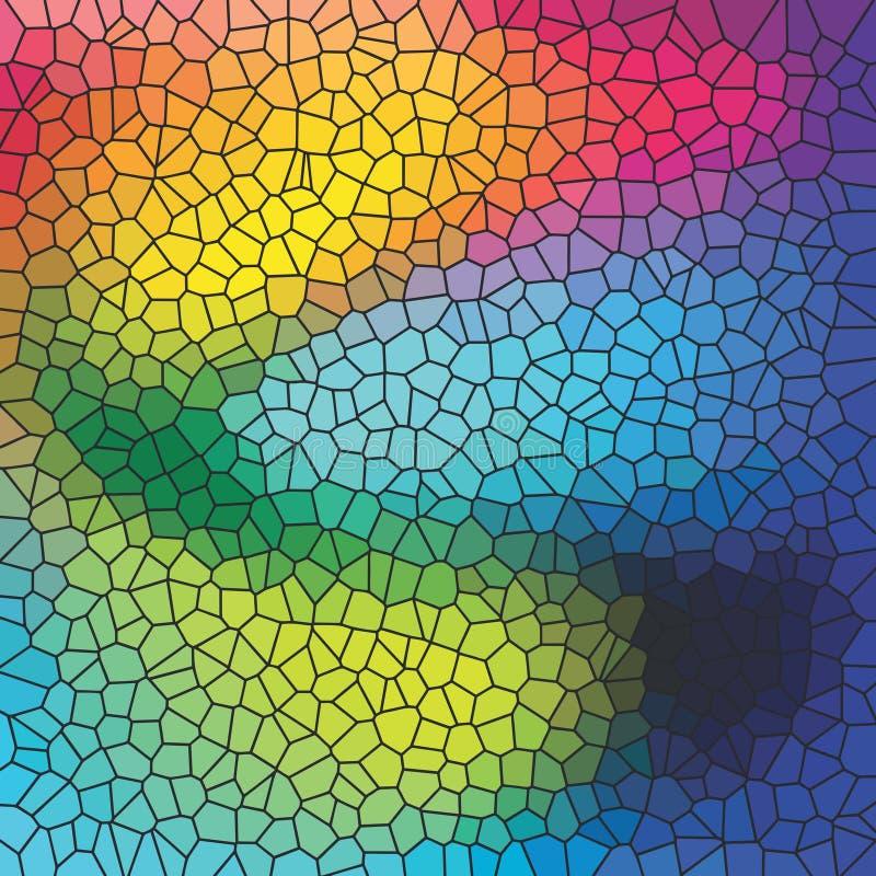 Kleurrijke achtergrond met imitatie van gekleurd glas royalty-vrije illustratie