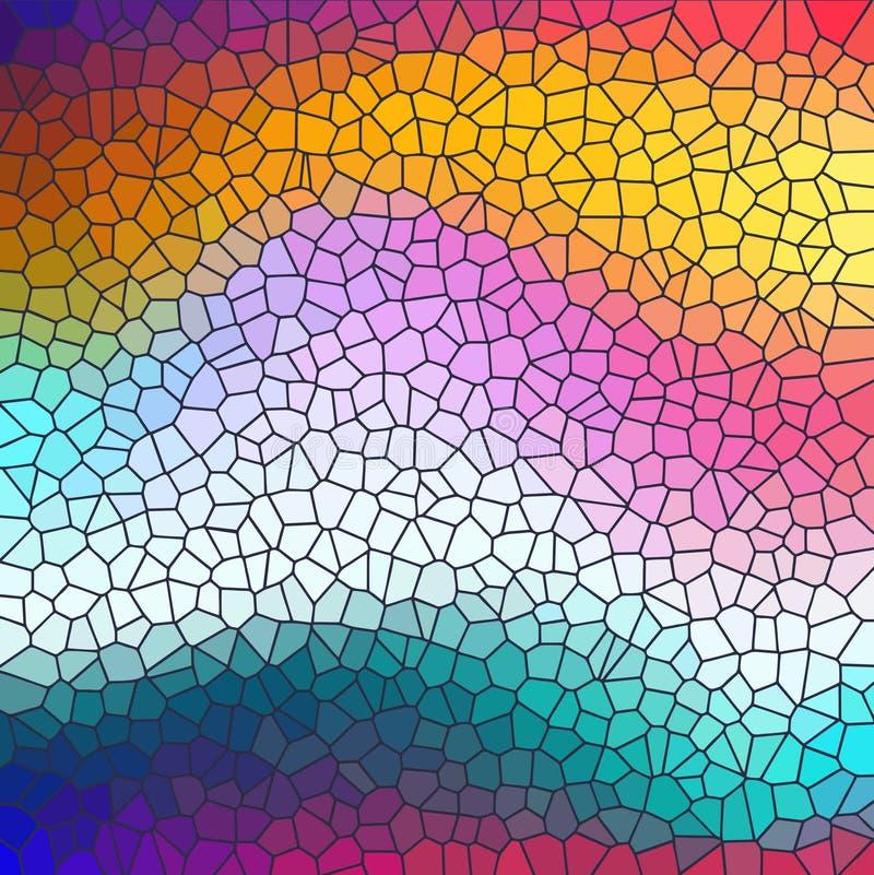 Kleurrijke achtergrond met imitatie van gekleurd glas stock illustratie