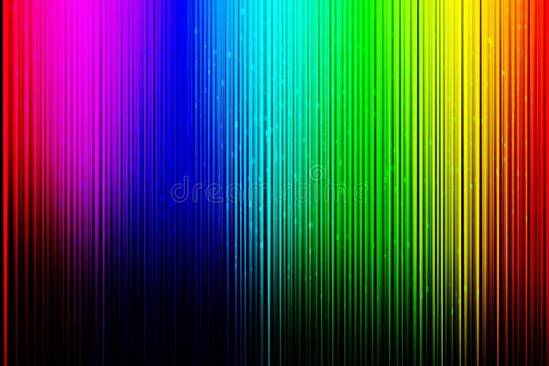 Kleurrijke achtergrond met verticale lijnen op zwarte gradiëntachtergrond royalty-vrije illustratie