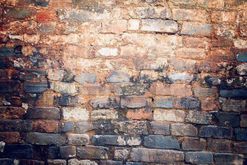 Kleurrijke achtergrond van de bakstenen muur royalty-vrije stock foto