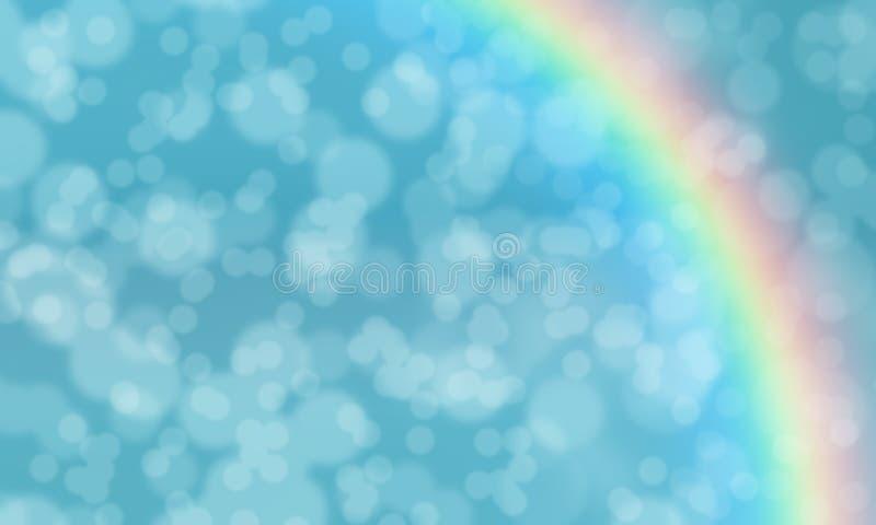 Kleurrijke achtergrond van de Bokeh de abstracte regenboog stock illustratie