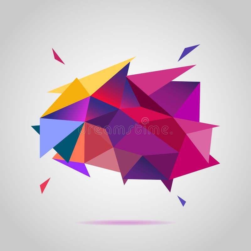 Kleurrijke achtergrond van driehoeken royalty-vrije illustratie