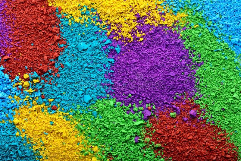 Kleurrijke achtergrond van pastelkleurstukken stock foto