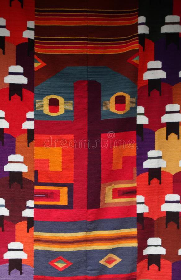 Kleurrijke Andesstof, Peru royalty-vrije stock foto's