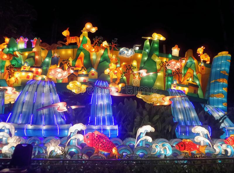 Kleurrijke Animatielantaarn stock afbeelding