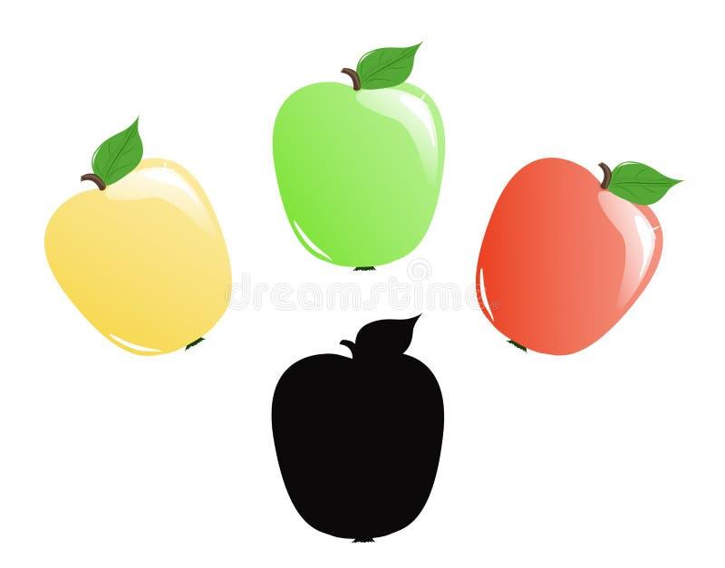 Kleurrijke Appelen stock illustratie