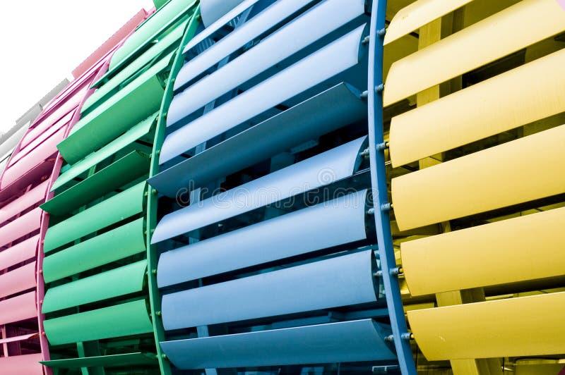 Kleurrijke architectuur royalty-vrije stock foto