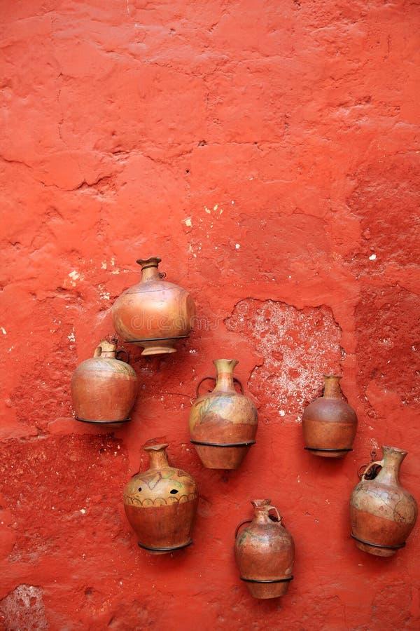 Kleurrijke architectuurdetails, Cuzco, Peru. stock fotografie