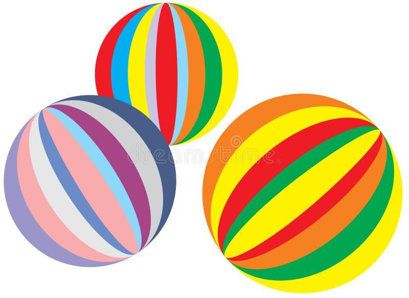 Kleurrijke ballen royalty-vrije illustratie