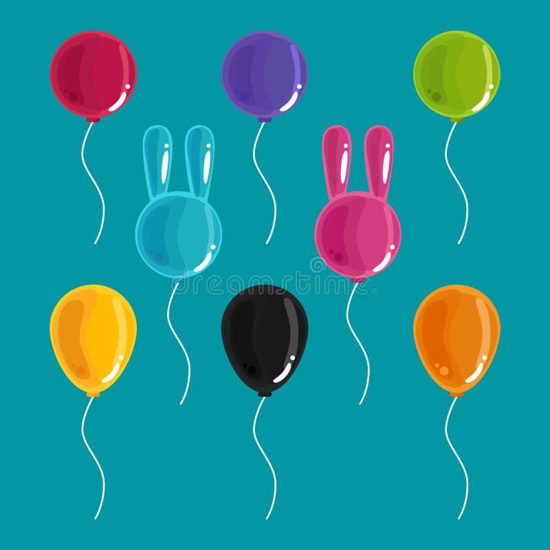 Kleurrijke Ballons royalty-vrije illustratie