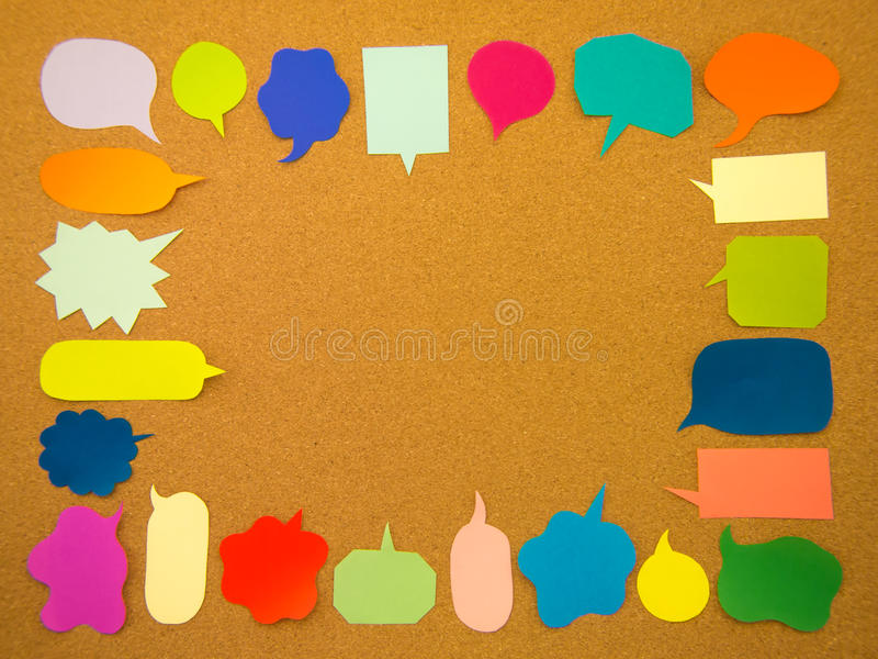 Kleurrijke Ballons (Cork Board Background) royalty-vrije stock fotografie