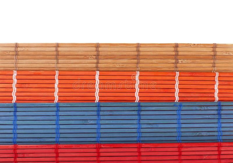 Kleurrijke bamboedekens in de Chinese stijl stock foto's