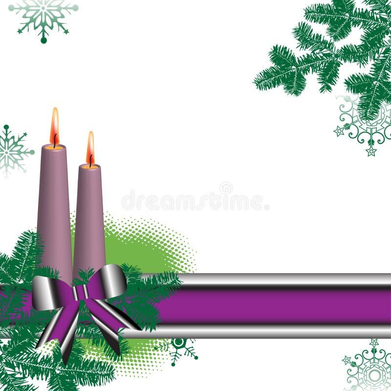 Kleurrijke banner en kaarsen stock illustratie