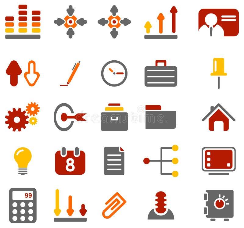 Kleurrijke bedrijfspictogrammen stock afbeeldingen