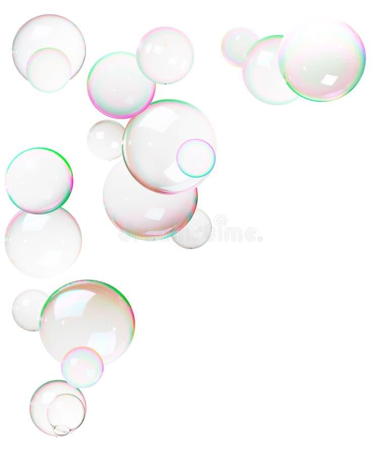 Kleurrijke bellen die van zeep worden gemaakt stock afbeelding
